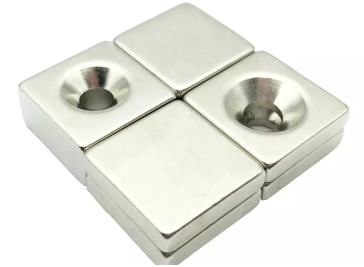 Custom Countersunk N52 Neodymium Block Magnets
