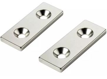 Countersunk Holes rare earth block magnet neodymium magnets