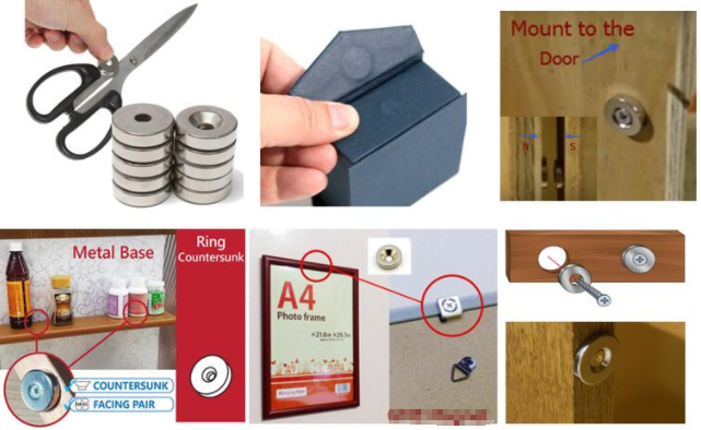Rare Earth Countersunk Holding Magnets