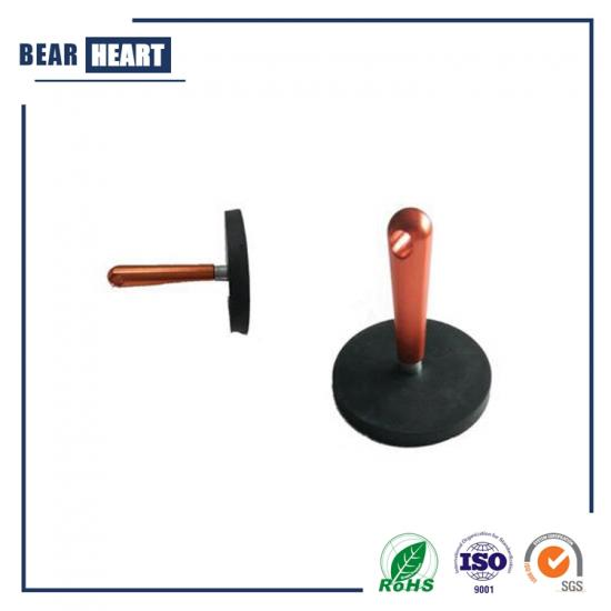 Rubber Covered Magnetic System with Handle D43mm