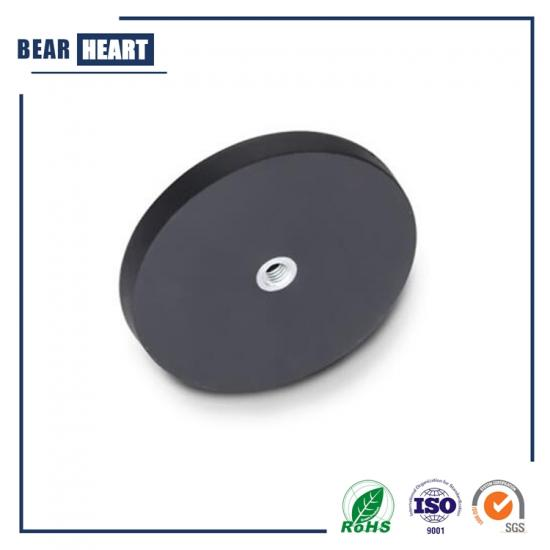 Internal thread rubber coated magnets