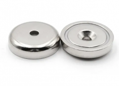 Neodymium pot magnets with countersunk hole