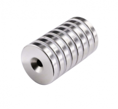 Flat countersunk neo round mounting magnets