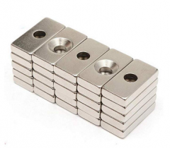 Rare Earth Block Countersunk Magnets