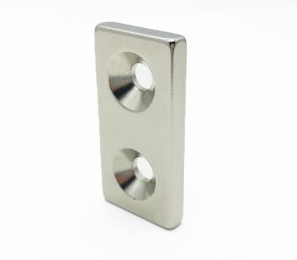 neodymium rectangular magnet with holes