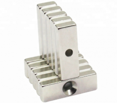 Super strong neodymium countersunk block magnets
