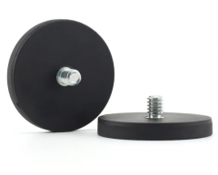 Rubber Coated Magnet With External Bolt
