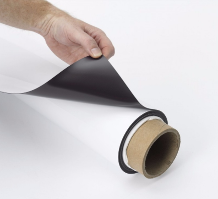 Flat flexible rubber magnets Printable vinyl magnetic roll