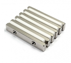 Neodymium Bar Magnet with Two Holes