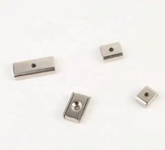 Neodymium Rectangular Pot Magnets with Countersunk Hole