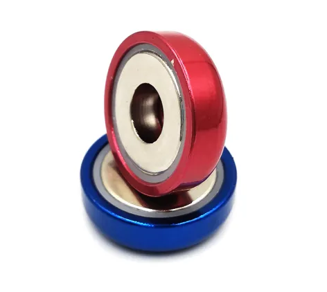 Strong Shallow Round Base Permanent magnets