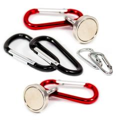 Neodymium Magnet with Rotating Carabiner Hook