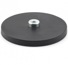 D88 High Internal Thread Rubber Coated Magnets