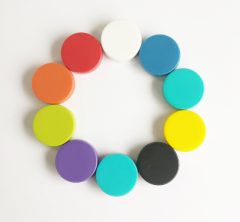 Colorful Plastic Coated Round Magnetic Button
