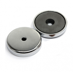 Round Base Ferrite Pot Magnets