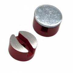 Red painted Alnico button magnets